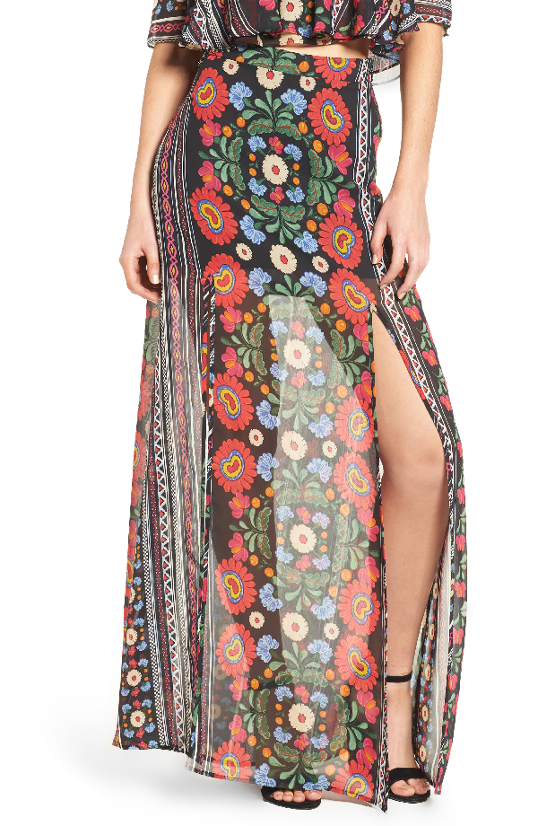 Show Me Your Mumu Mick Double Slit Skirt In Mexicali