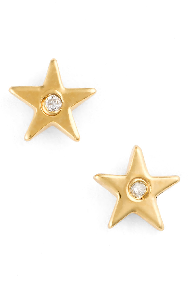Shy By Se Star Stud Earrings In Gold