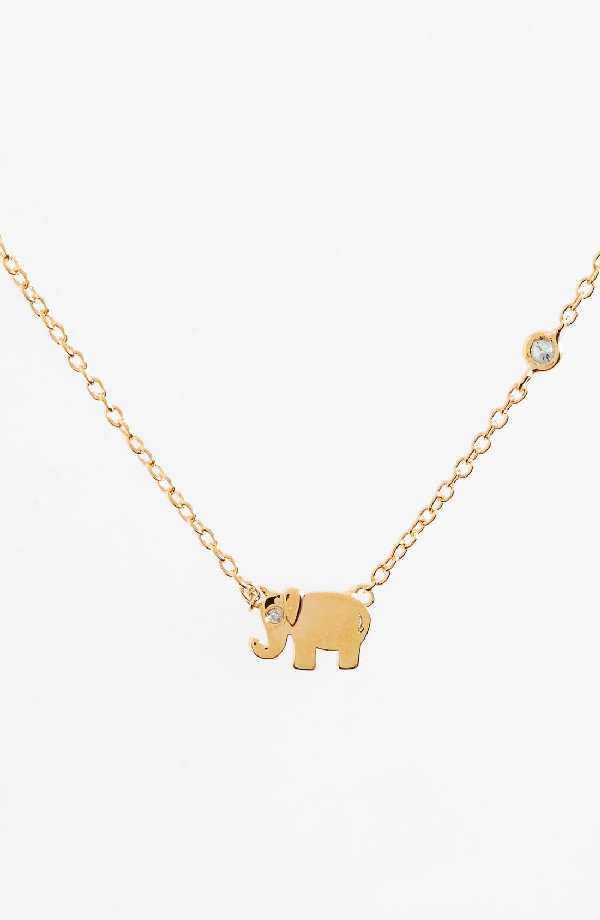 Shy By Se Shy By Sydney Evan Elephant Necklace In Gold