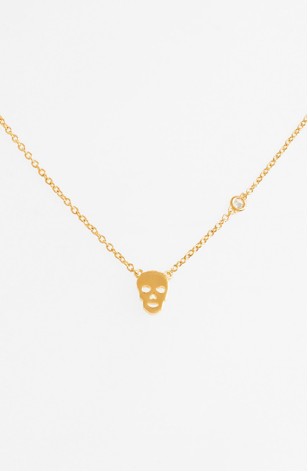 Shy By Se Skull Necklace In Gold
