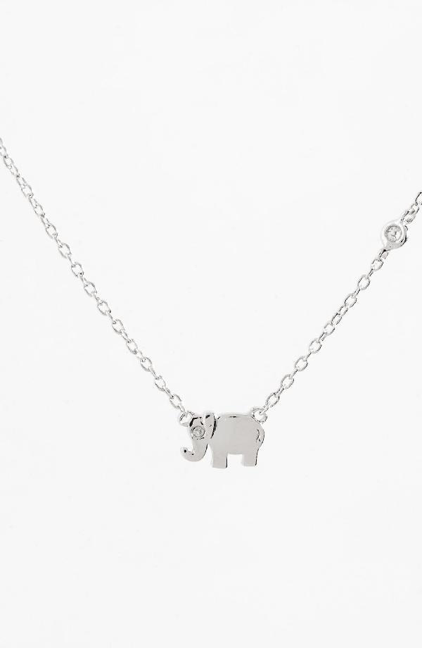 Shy By Se Shy By Sydney Evan Elephant Necklace In Silver