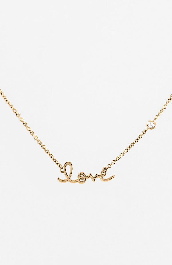 Shy By Se 'love' Necklace In Gold