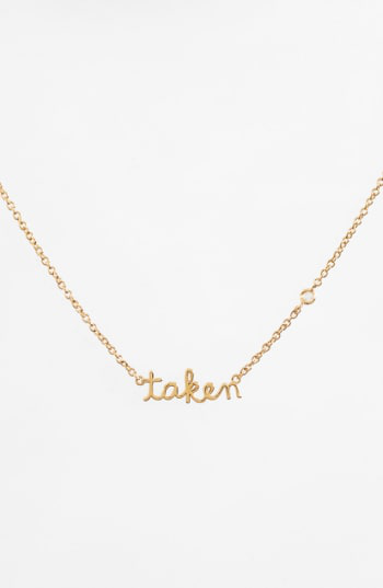 Shy By Se Taken Necklace In Gold