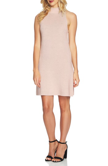 1.state Mock Neck Sweater Dress In Blush Frost