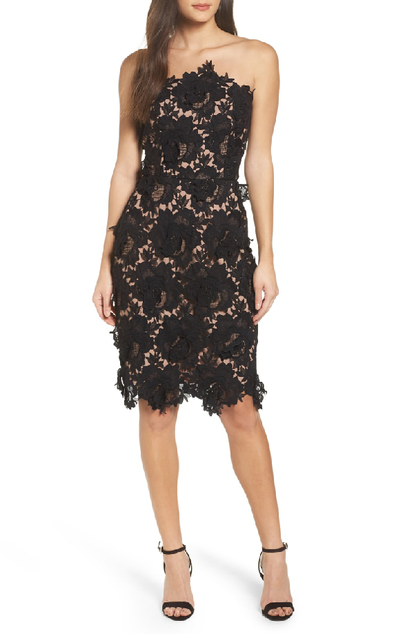f38792bf4104 Adelyn Rae Jade Lace Tube Dress In Black | ModeSens