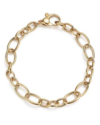 Bloomingdale's 14k Yellow Gold Small And Large Link Bracelet - 100% Exclusive