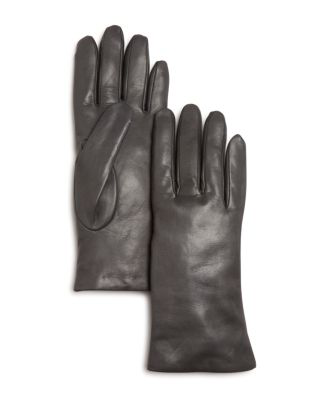 Bloomingdale's Cashmere-lined Leather Gloves - 100% Exclusive In Gray