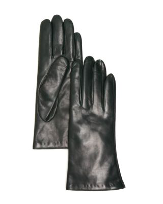 Bloomingdale's Cashmere-lined Leather Gloves - 100% Exclusive In Emerald
