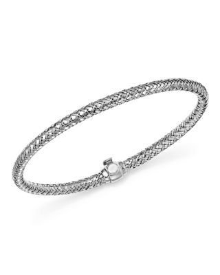 Bloomingdale's Basket Weave Bangle In 14k White Gold - 100% Exclusive