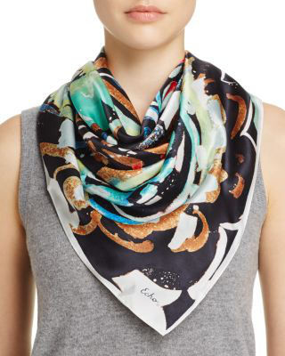 Echo Folklore Paisley Silk Square Scarf - 100% Exclusive In Navy/multi