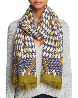 Inouitoosh Dominique Wool Scarf In Khaki