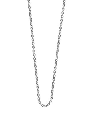 Jet Set Candy Cable Chain Necklace, 18 In Silver
