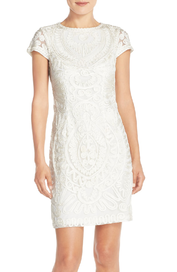 Js Collections Soutache Dress In Ivory