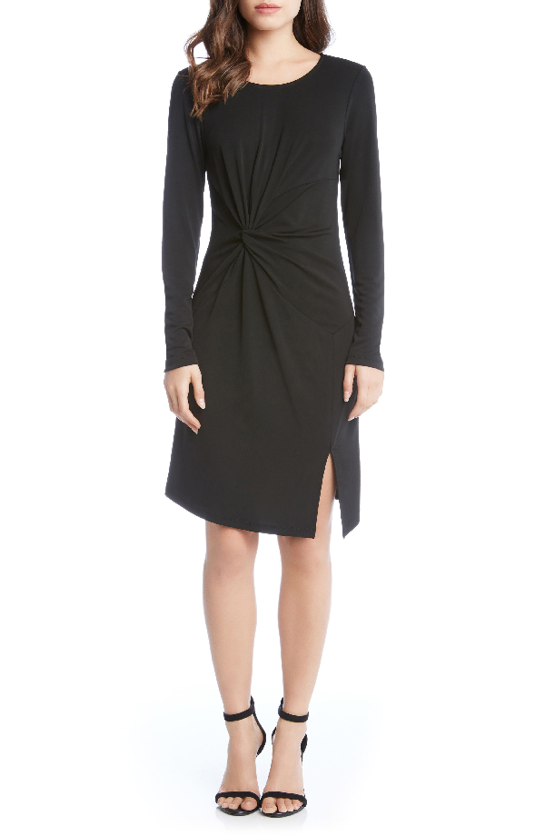 Karen Kane Isabella Side Twist Dress In Black