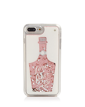 Kate Spade New York Glitter Love Potion Iphone 7 And 8 Plus Case In Rose Gold Multi/silver