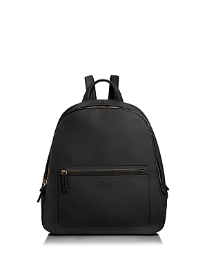 Kate Spade New York Layden Street Izzy Leather Backpack In Black/gold