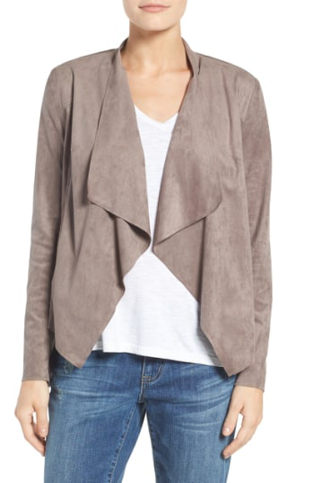 Kut From The Kloth Tayanita Faux Suede Jacket In Buff