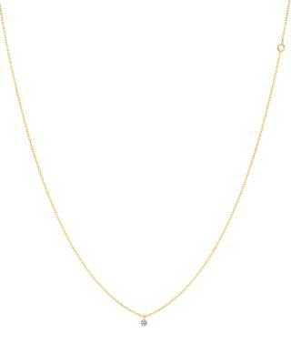 La Brune Et La Blonde 18k Yellow Gold 360 Necklace With Small Brilliant Diamond, 14.75 In White/gold