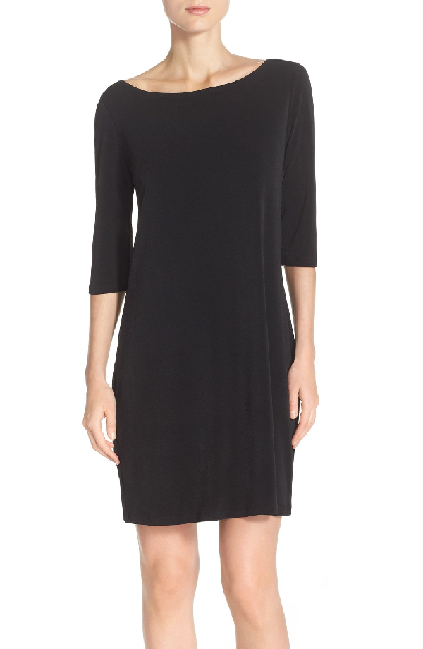 Leota Dolman Sleeve Jersey Sheath Dress In Black