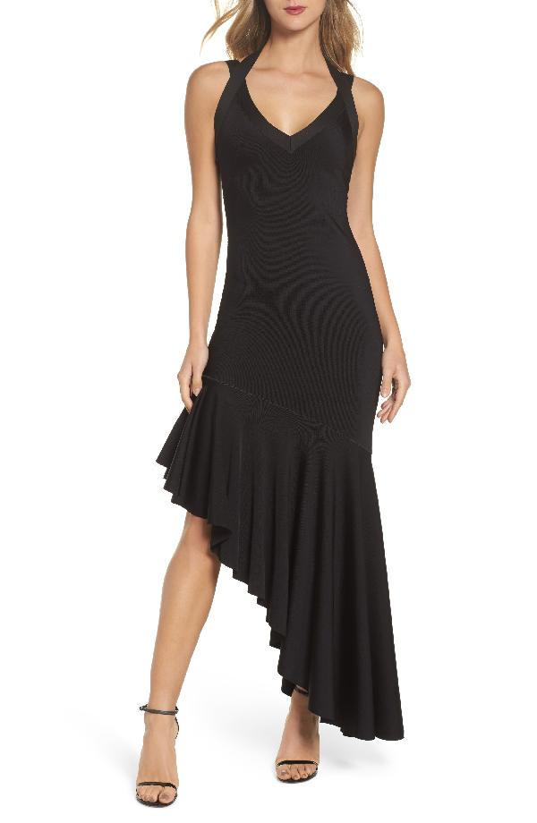 Maria Bianca Nero Tara High/low Knit Dress In Black