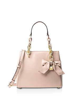 Michael Michael Kors Cynthia Small Convertible Leather Satchel In Soft Pink