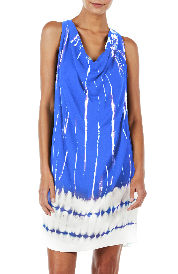 Michael Stars Tie Dye A-line Dress In Bayside
