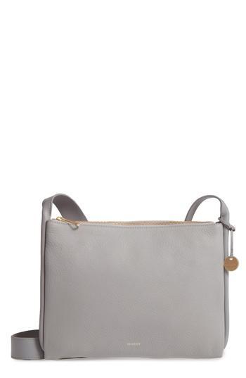 Skagen Slim Anesa Leather Crossbody Bag - Grey In Light Ash