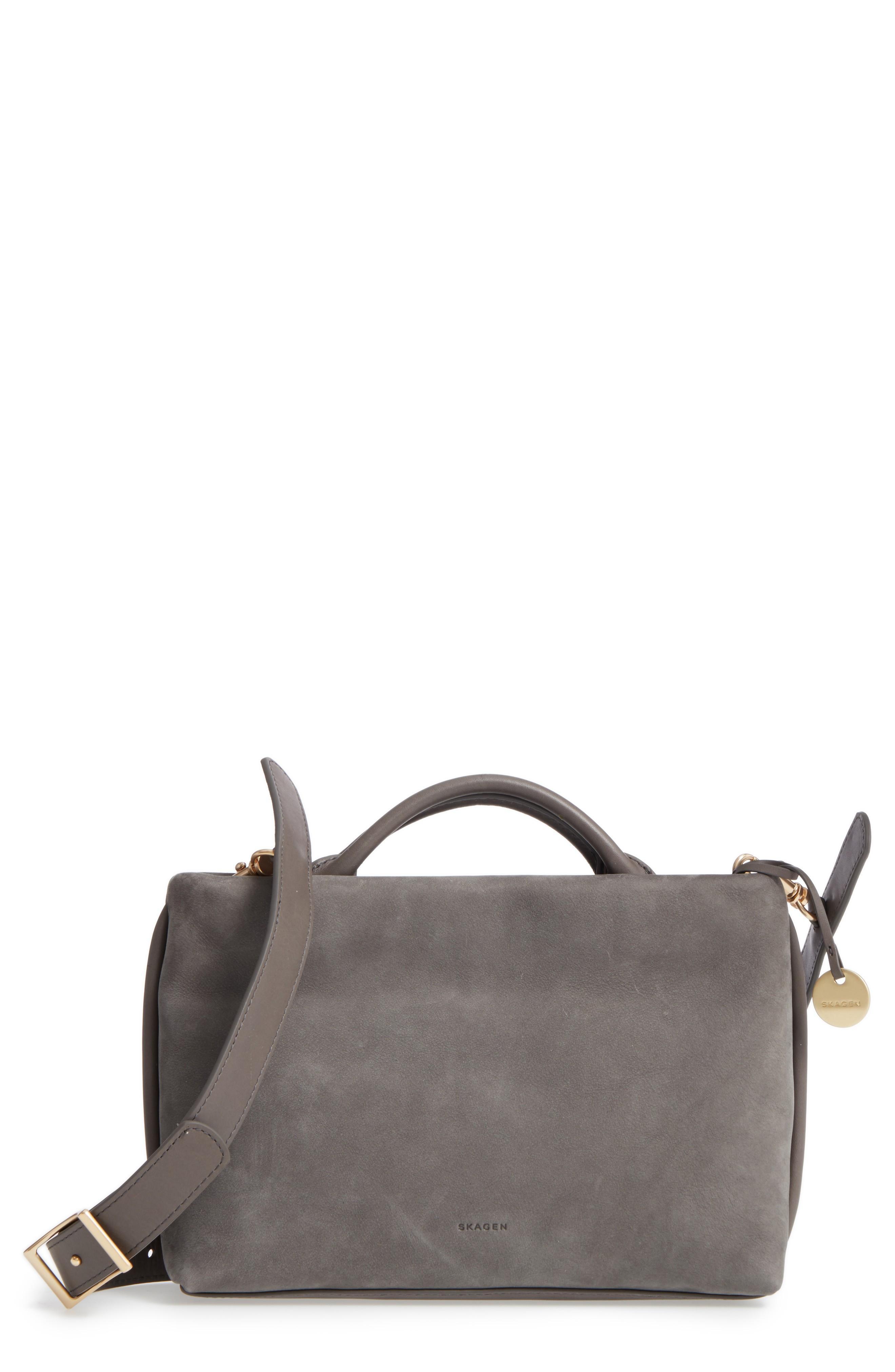 Skagen Mikkeline Mini Leather Satchel - Grey In Pewter