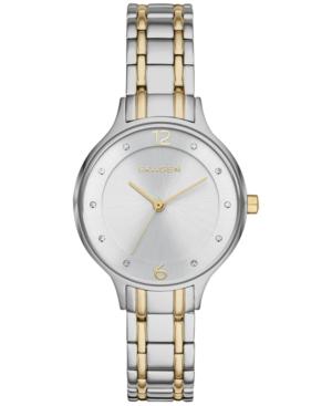 Skagen Women's Anita Two-tone Stainless Steel Bracelet Watch 30mm Skw2321 In Silver/ Gold