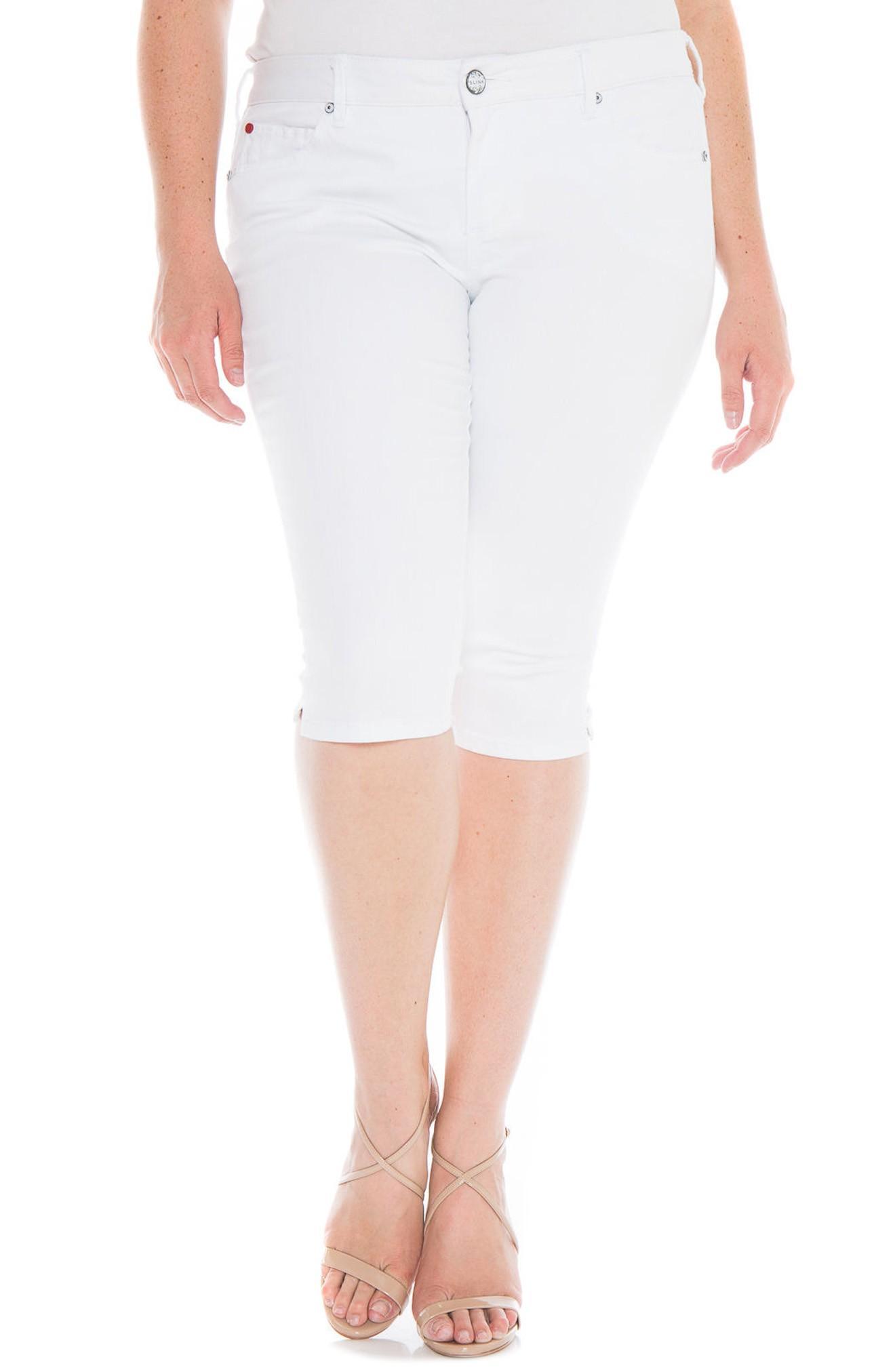 Slink Jeans Pirate Skinny Capri Jeans In White