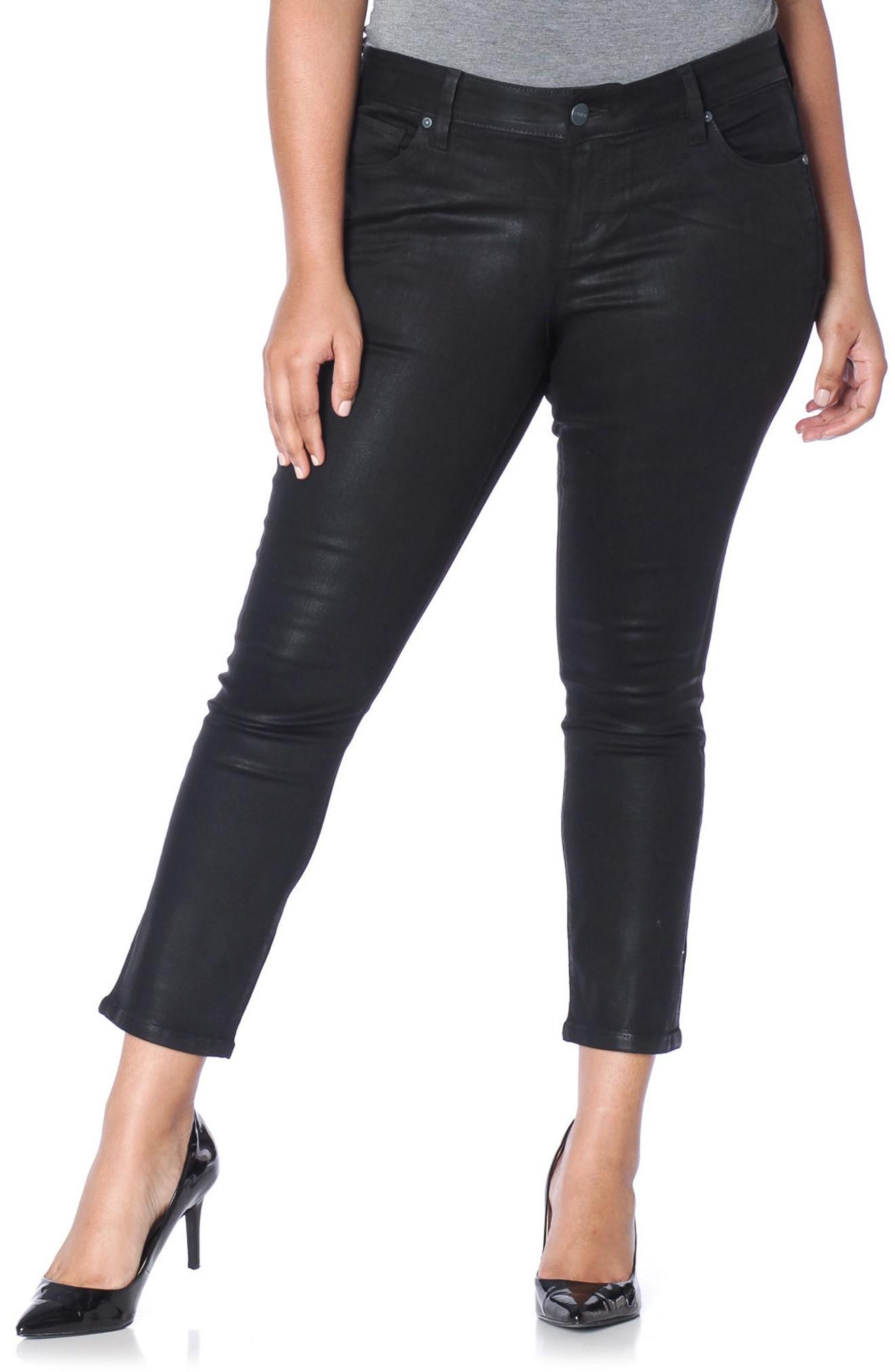 Slink Jeans Coated Ankle Jeans In Gayle