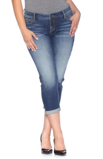 Slink Jeans Easy Fit Mid-rise Skinny Jeans In Val