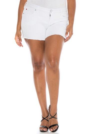 Slink Jeans Cutoff Denim Shorts In Lexy