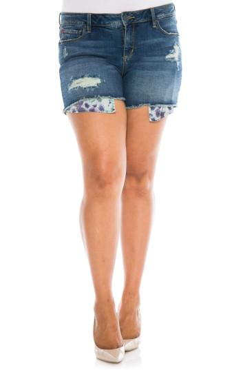 Slink Jeans Exposed Pocket Denim Shorts In Caralyn