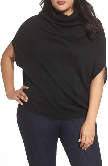 Slink Jeans Merino Wool Blend Turtleneck Sweater In Black