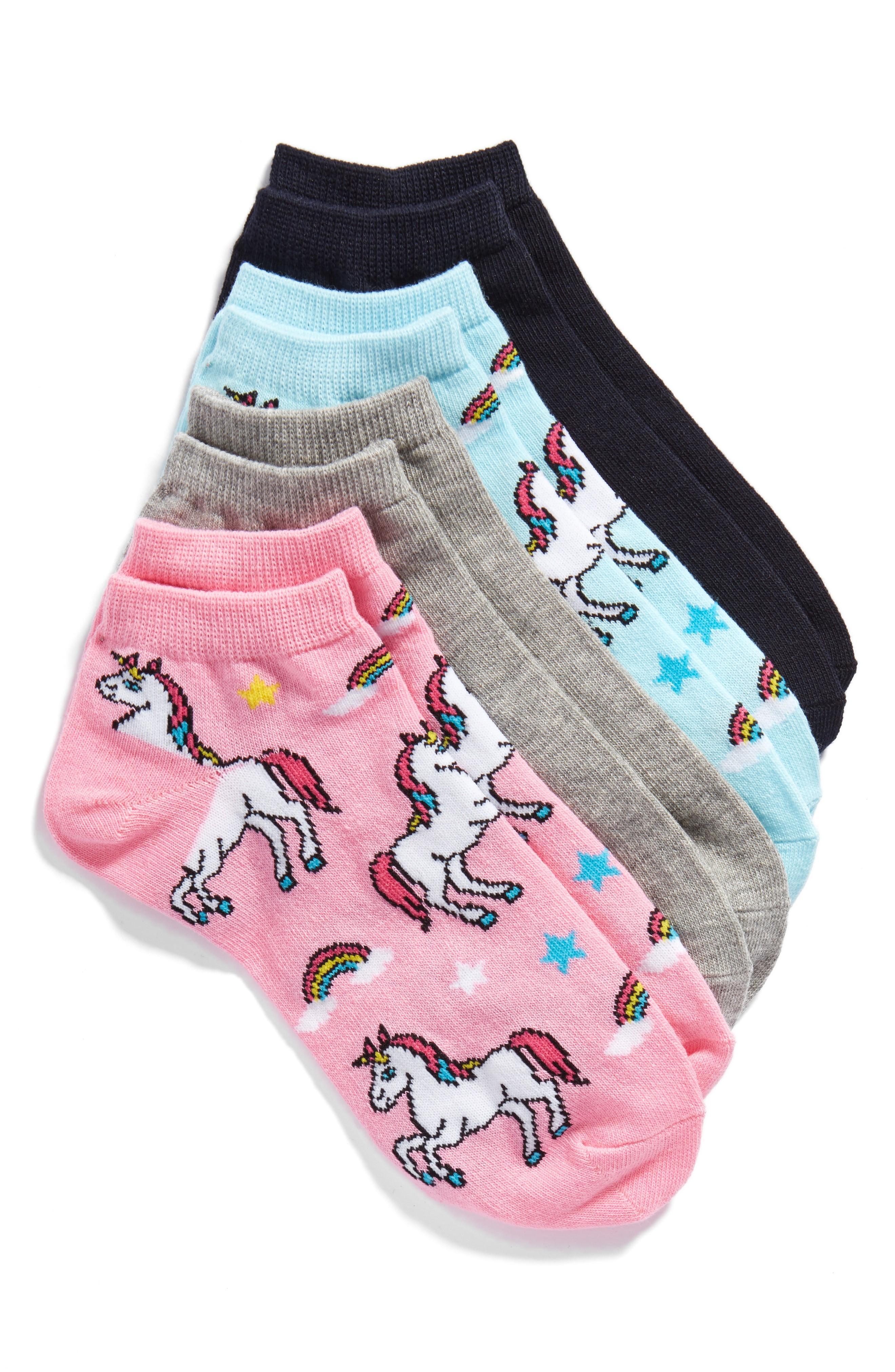 Sockart Unicorn 4-pack Ankle Socks In Pink