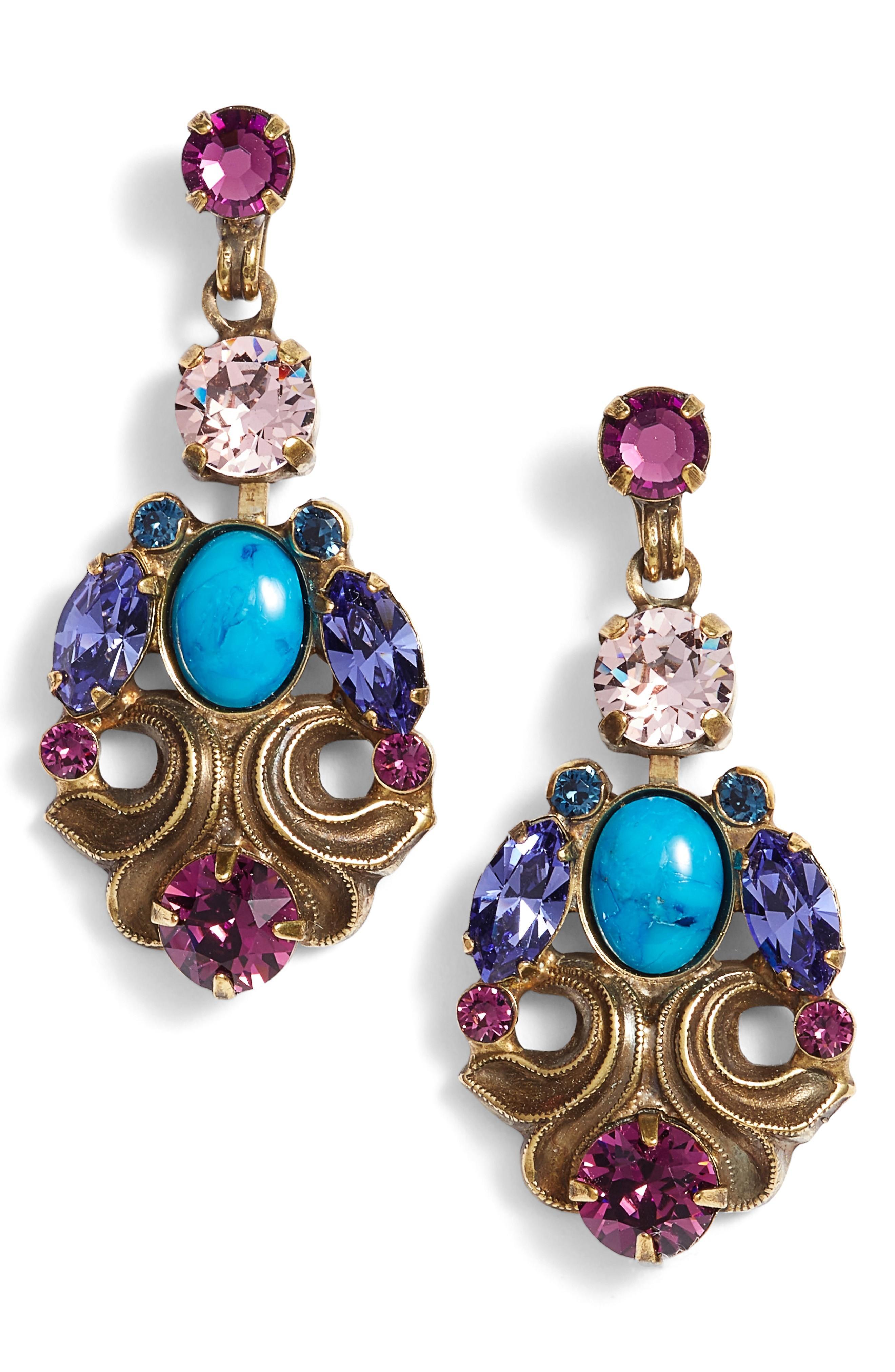 Sorrelli Edelweiss Crystal Drop Earrings In Multi