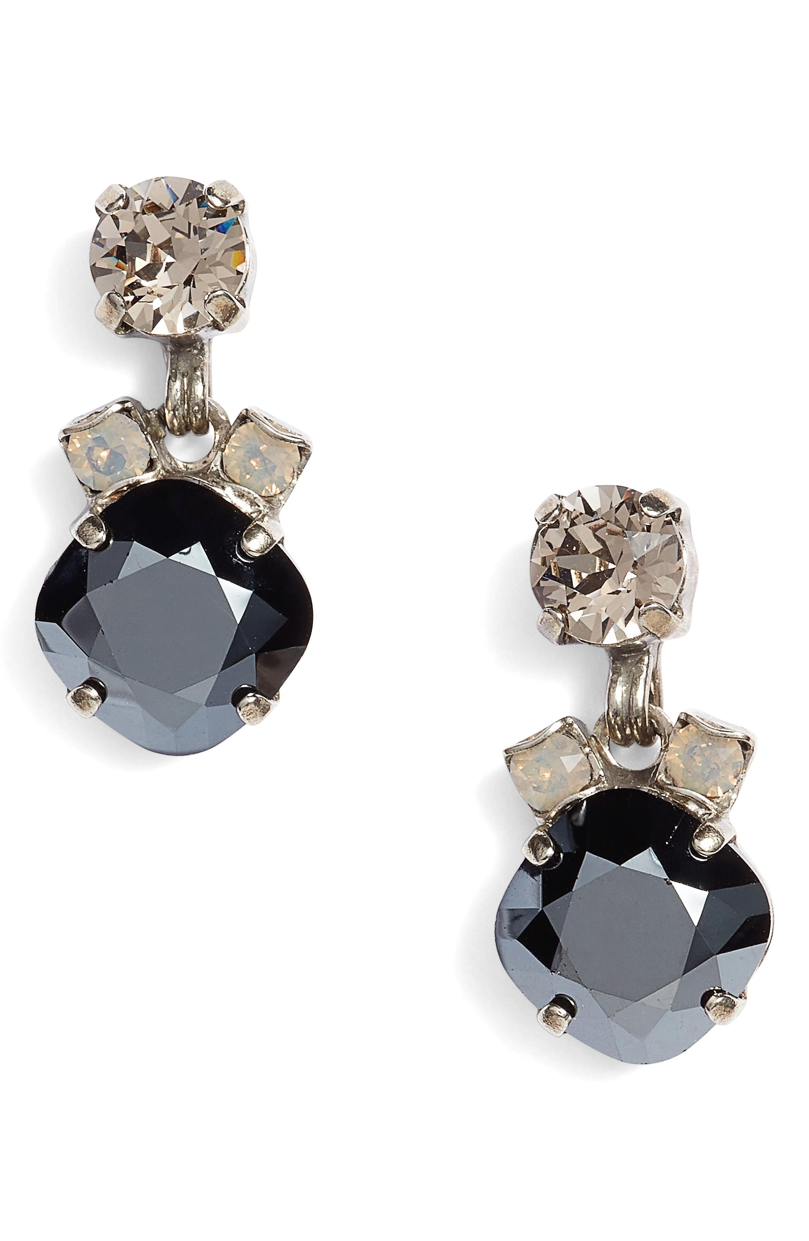 Sorrelli Balsam Crystal Drop Earrings In Black