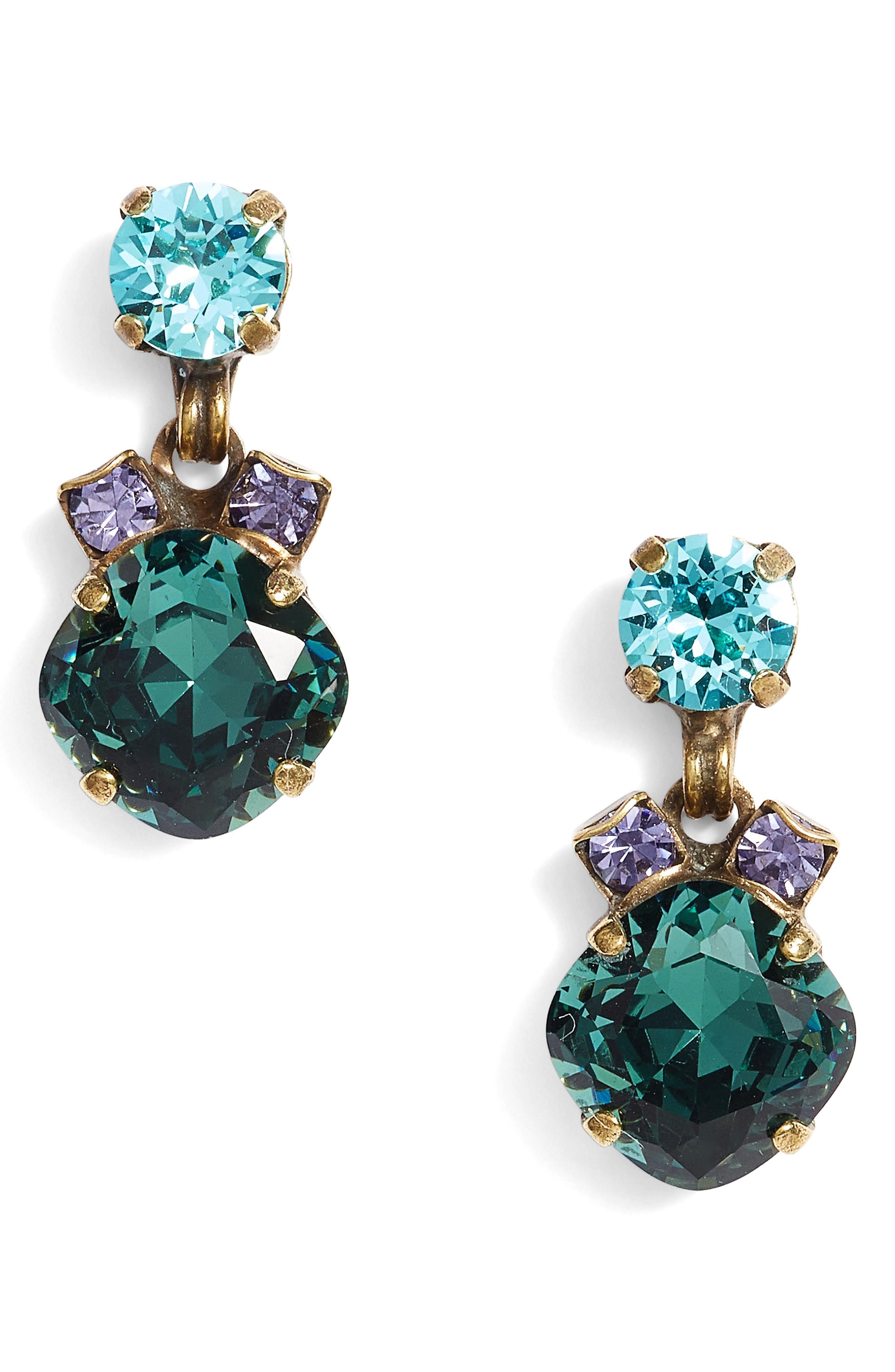 Sorrelli Balsam Crystal Drop Earrings In Multi