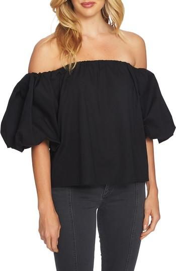 1.state Off The Shoulder Top In Rich Black