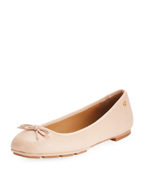 2441b4b76f4 ... gleaming logo medallions adds signature style to a classic ballet flat  cut from smooth leather. Style Name  Tory Burch Laila Driver Ballet Flat  (Women).