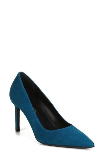e8295152b6 Via Spiga Nikole Pointy Toe Pump In Peacock Suede | ModeSens