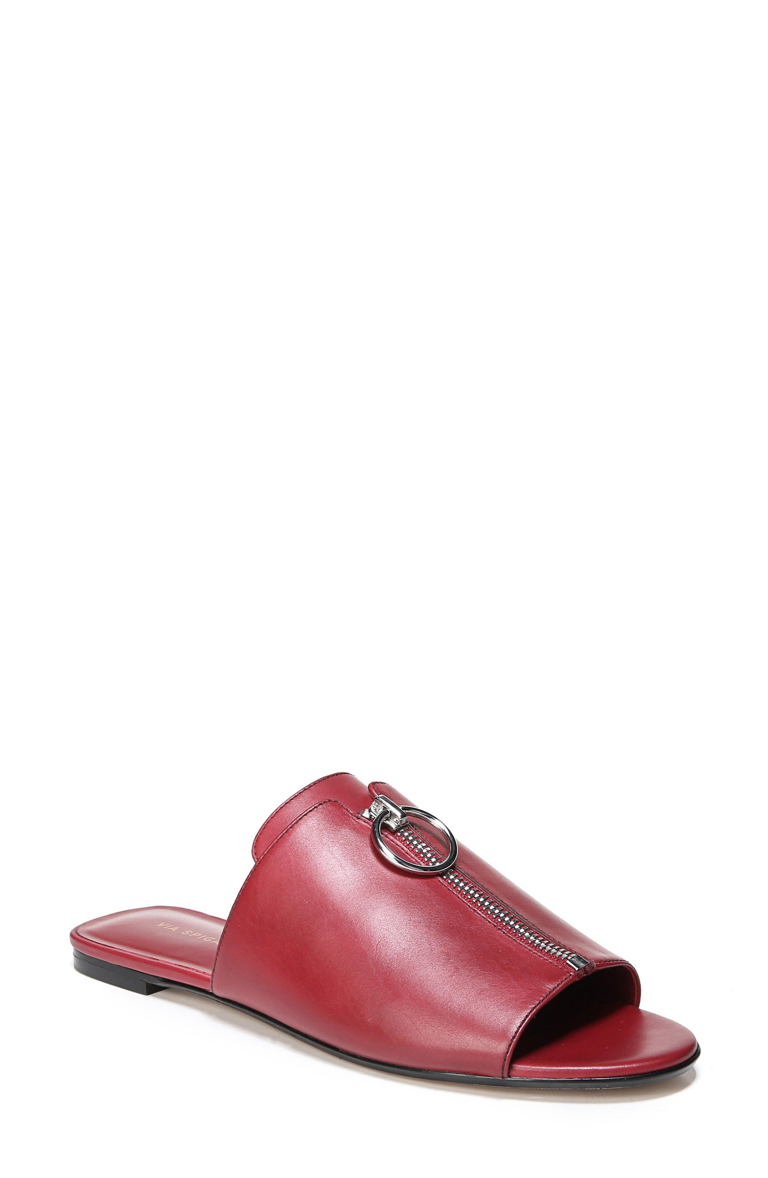 6c2666b7549 Via Spiga Hope Slide Sandal In Ruby Leather