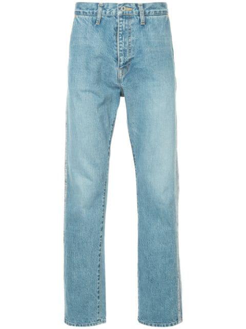 erstklassige Qualität zum halben Preis Preis vergleichen Jeans Mit Seitenstreifen in Blue