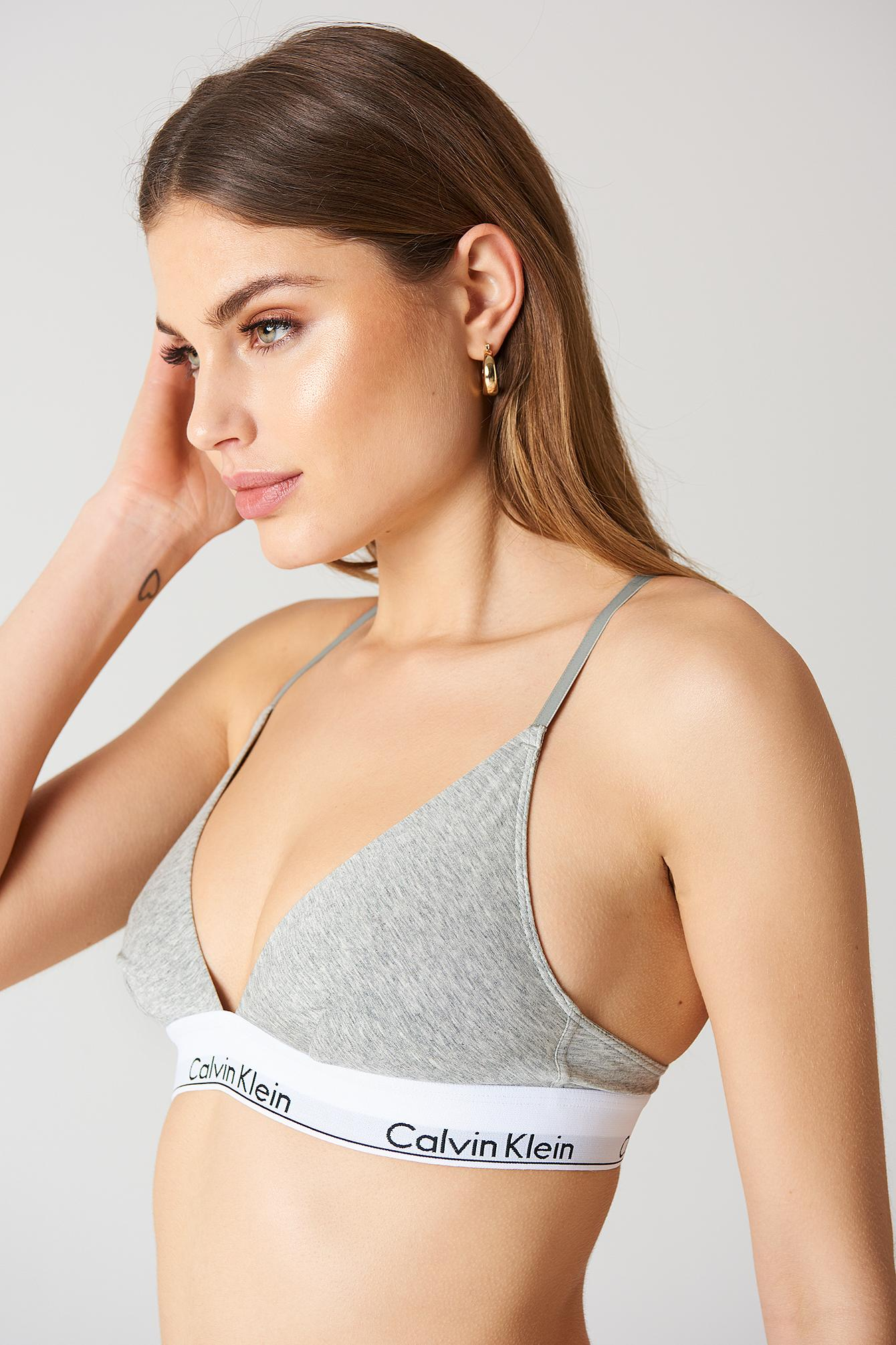 9def3beaf6 Calvin Klein Triangle Bra Modern Cotton - Grey