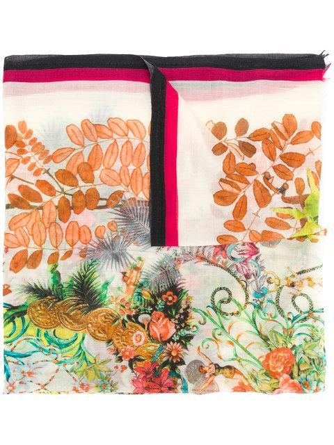 Etro Mixed Floral Print Scarf - Multicolour