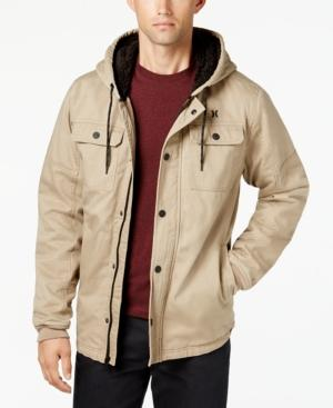 2cf0f49b2ea Hurley Men s Outdoor Hooded Jacket In Khaki