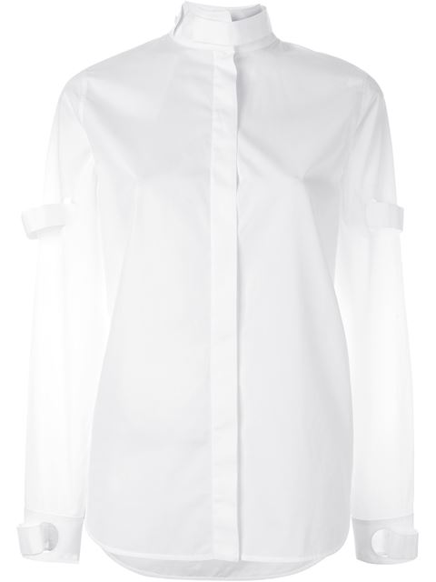 CourrÈges Solid Color Shirts & Blouses In White