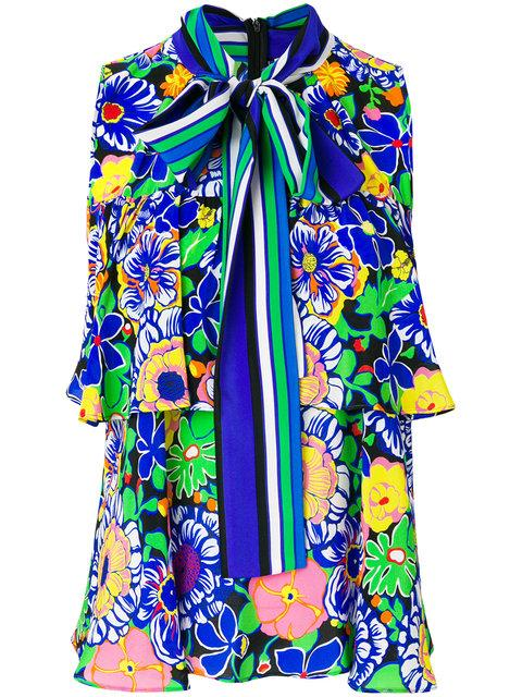 Msgm Printed Sleeveless Blouse - Multicolour
