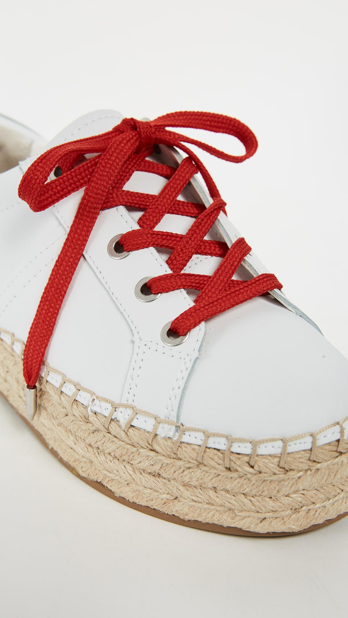 5c213116348e Sam Edelman Carleigh Platform Espadrille Sneakers In Super White Candy Red